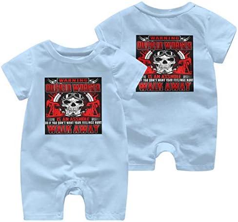 最新の人気の赤ちゃん統合半袖 0-2歳の赤ちゃん半袖 OILFIELD WORKER 綿100%の赤ちゃんのジャンプスーツの男性の赤ちゃんの女性の赤ちゃん、赤ちゃんの半袖