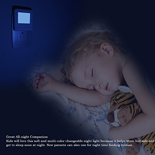 Plug in LED Night Light with Smart Dusk to Dawn Sensor, MAZ-TEK Multi-Color Changeable Nightlights, Energy Efficient Night Lamp for Bedroom, Baby Room, Kitchen, Hallway, Stairway, 2 Pack by MAZ-TEK (Image #5)