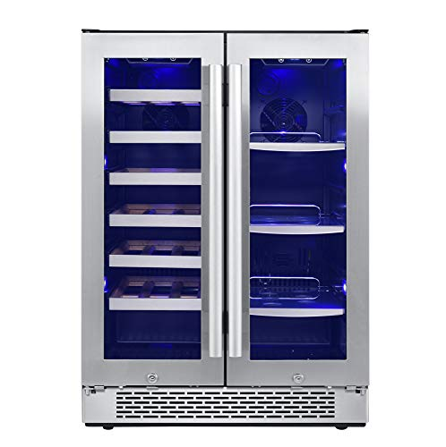 Avallon AWBC241GGFD 24 Inch Wide 21 Bottle and 60 Can Capacity Built-In Wine and Beverage Cooler with French Doors by Avallon (Image #4)