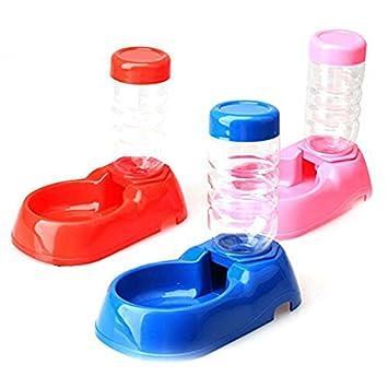 Dispensador de agua para mascotas - SODIAL(R)Dispensador automatico de agua para Gatito Gato Perrito Perro mascota Botella Alimentador Cuenco Plato de ...