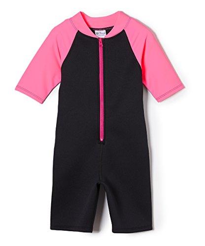 Tuga Girls Shorty 1.5mm Neoprene/Spandex Wetsuit (UPF 50+), Bubblegum, 6 yrs ()