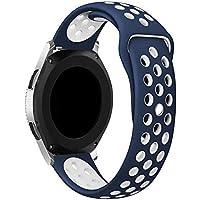 سوار من لنكو بقياس (46 ملم) متوافق مع ساعة سامسونج جالكسي، سوار بديل من السيليكون الناعم بتصميم رياضي بقياس 22 ملم…