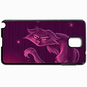 Customized Cellphone Case Back Cover For Samsung Galaxy Note 3, Protective Hardshell Case Personalized Cat Peeping In Black