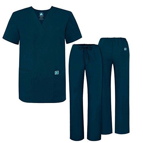 Adar Universal Medical Scrubs Set Medical Uniforms - Unisex Fit - 701 - CBB -2X