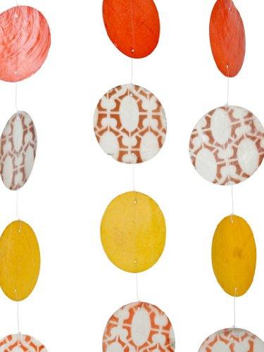 KOUBOO Capiz Seashell Printed Curtain Strands, Set of 4