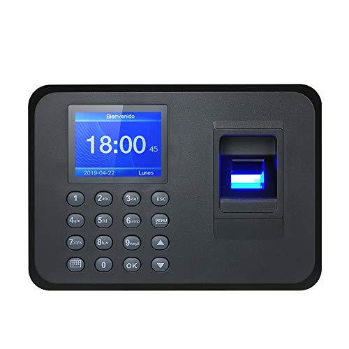 Decdeal Biometric Fingerprint Attendance Machine TFT LCD Display USB Fingerprint Attendance System Time Clock Employee Checking-in Recorder (2.4'')
