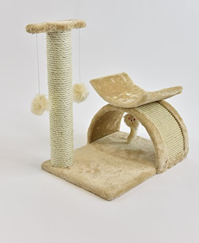 """18"""" Cat Tree Condo Furniture Scratcher Beige"""