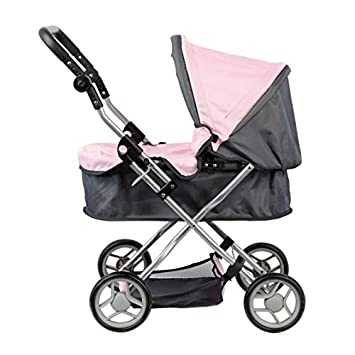 Doll Stroller - Carro capota - Manillar regulable en altura: 45 - 72 cm - plegable