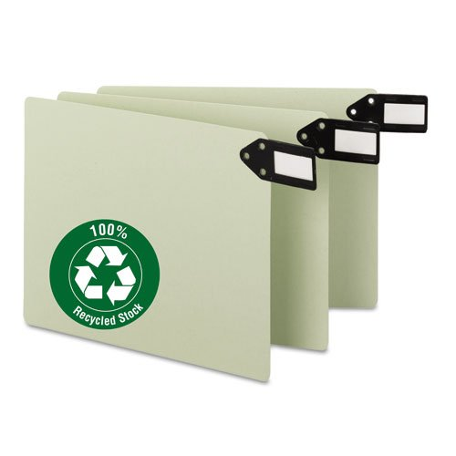 Smead Green End Tab Guides, Blank, Horizontal Metal Tabs, Pressboard, Letter, 50/Box ()