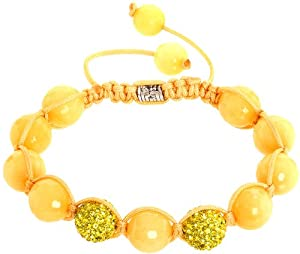 Royal Diamond Sun Colored Shamballa Style Bracelet