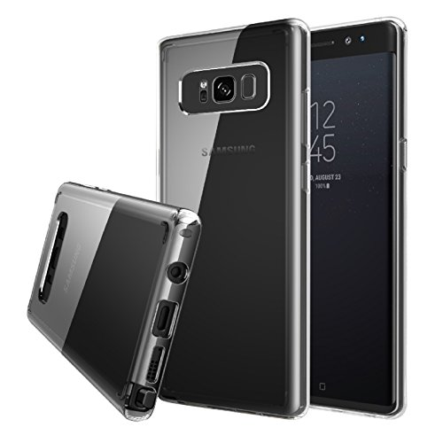 Galaxy Note 8 Case – Quirkio – Crystal Clear TPU Gel Transparent Protective Cover Ultra Slim Soft Rubber Dust Proof Hard Bumper Back Skin Slim Fit Case for Samsung Galaxy Note 8