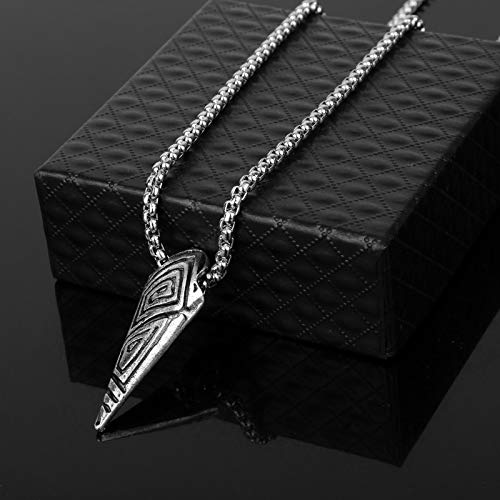 Necklace for Men New Movie Jewelry Dc Marvel Comics Black Panther Etched Claw Chain Pendant Necklace For Men Women Fans Gifts
