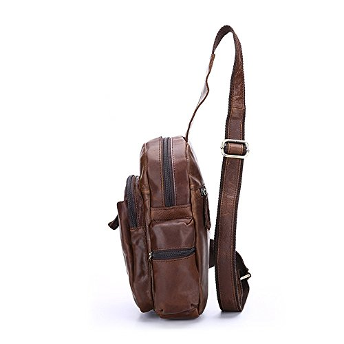 Borse Multiuso Daypack Sport Messenger Outdoor Chest Crossbody Viaggi Business Sling Leisure Marrone Donna Jxth Palestra Bag uomo per Zaino 84npFwq