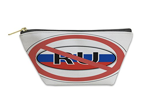 Gear New Accessory Zipper Pouch, Sign Russia The Russians Banned Entrance Is Prohibited For Print Or Website, Small, - Website Ban