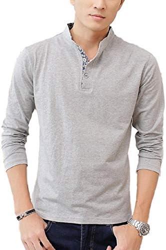 カットソー 襟付き Tシャツ ロンT 長袖 インナー アウター かっこいい シンプル カジュアル トップス