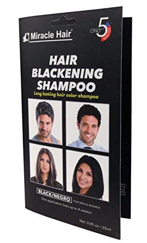 Dye Pouch - Hair Blackening Shampoo (12-pack) by Miracle Hair
