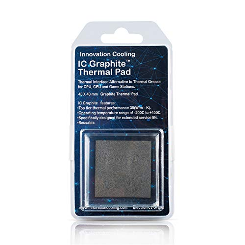 Innovation Cooling Graphite Thermal Pad - Alternative to Thermal Paste/Grease (40 X 40mm)