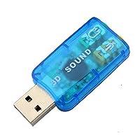 USB sound card external laptop independent sound card USB transfer audio adapter(black) from ouledixun