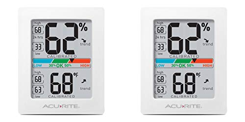 Price comparison product image AcuRite 01083 Pro Accuracy Indoor Temperature and Humidity Monitor,  Original Version 2-Pack