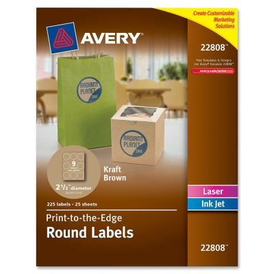 Avery Print To The Edge Round Labels SO12 - Edge Round Labels