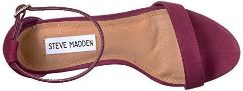 Steve Madden Kvinders Declair Kjole Sandal Bordeaux Nubuck nkksdjoo