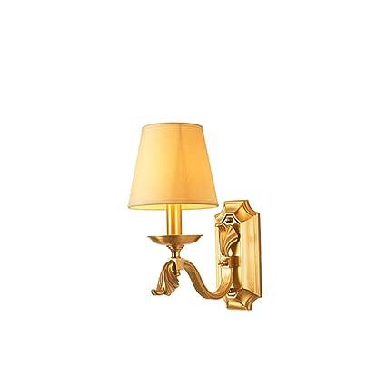YONGMEI All-copper Lampada Da Parete Americana Soggiorno ...