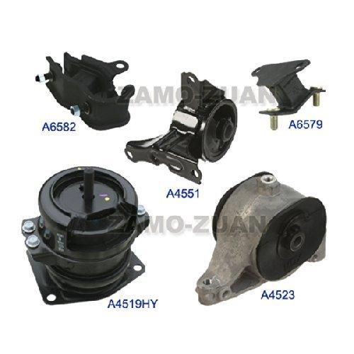 - Fits: 2003-2004 Honda Pilot 3.5L 4WD Engine Motor & Trans Mount Full Set 5PCS 03 04 A6582 A6579 A4551 A4519 A4523