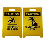NMC FS36 CAUTION TRIPPING HAZARD Sign with Graphic