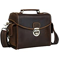 Waterproof Vintage Leather DSLR SLR Camera Bag Shoulder Bag Messenger Bag