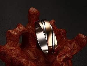 Ring Unisex titanium chromatin (Size 7) NO.WTR 60