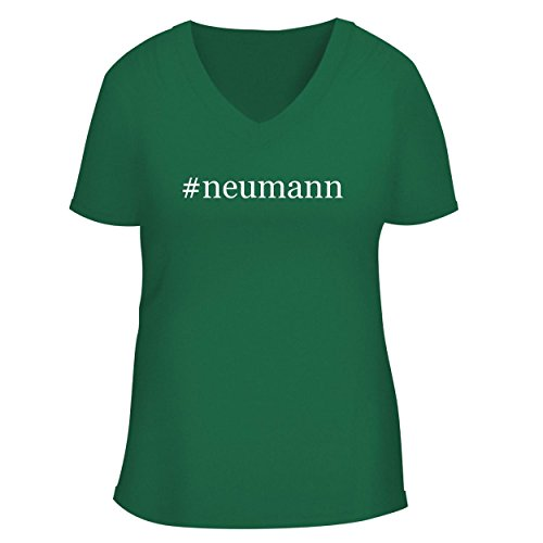 Price comparison product image BH Cool Designs neumann - Cute Women's V Neck Graphic Tee,  Green,  Large