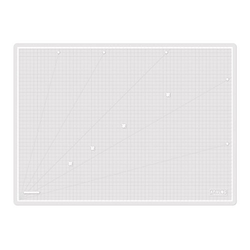 Analog Self Healing Durable PVC TRANSLUCENT Cutting Mat Board Art Craft (A2 White White) by Analog