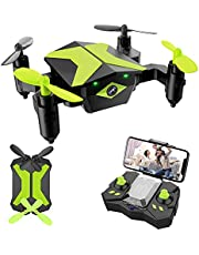 $39 » Drone with Camera Drones for Kids Beginners, RC Quadcopter with App FPV Video, Voice Control, Altitude Hold, Headless Mode, Trajectory Flight, Foldable Kids Drone Boys Gifts Girls Toys-Green