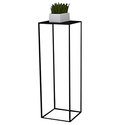 YJXJJD Iron Flower Stand - Flower Pot Shelf Living Room Balcony Floor-Standing Plant Flower Stand, Three Colors, Three (Color : Black, Size : M-30x30x60cm): Garden & Outdoor