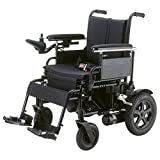 Drive Medical Cirrus Plus Folding Power Wheelchair with Footrest and Batteries, Black, 18