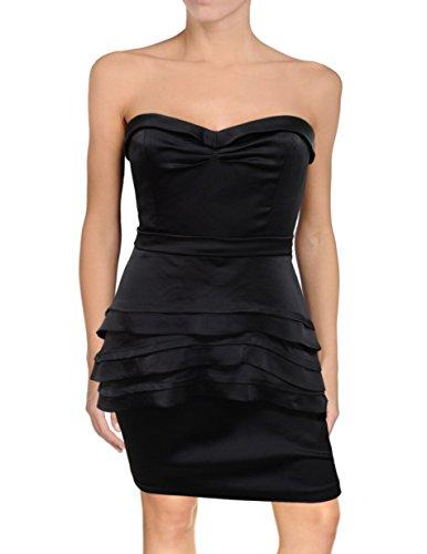 Dress Bcbg Black Strapless (BCBG Max Azria Aurelia Strapless Peplum Evening Dress, 4P Petite, Black)