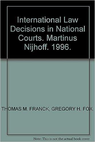 Pdf google bøker nedlasting International Law Decisions in National Courts 1571050078 (Norwegian Edition) PDB