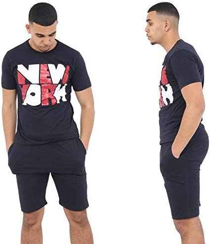 Mens Printed Tshirt Short Pyjamas Men/'s Nightwear Summer Pjs Pajamas Loungewear