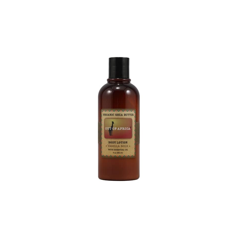 Out of Africa Organic Shea Butter Body Lotion with Essential Oil Vanilla Milk   9 Oz, 3 Pack