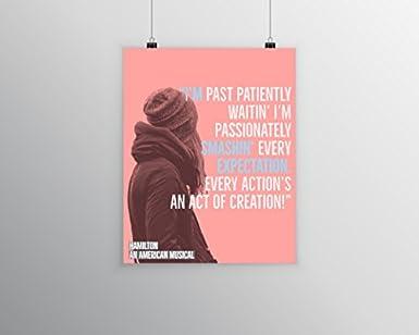 Amazon Com Hamilton Musical Quote Poster 4 Laminated 16 X 20