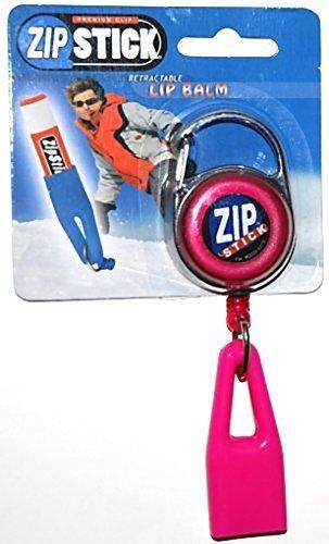 Zip Stick Retractable Lip Balm Holder Pink
