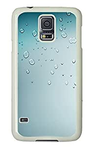 Samsung S5 case custom made Simple Water Drops Ios7669 PC White Custom Samsung Galaxy S5 Case Cover