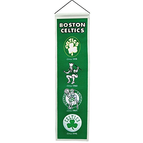 Fan Shop Authentic NHL Heritage and Team Felt Embroidered Logo Banner. Office, Bar or Man Cave (Boston Celtics) Boston Celtics Banner
