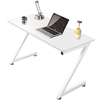 Harima   Kintai Professioneller Z Form Kompakt Computer Schreibtisch Weiß  Computerwagen Computertisch Bürotisch PC Tisch