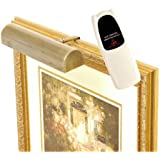 Concept Lighting 102L Cordless LED Remote Control Picture Light 11.5 in., Antique Brass