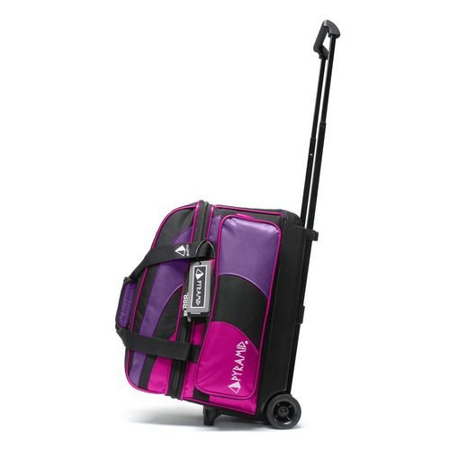 Pyramid Path Deluxe Double Roller Bowling Bag (Hot Pink/Purple)