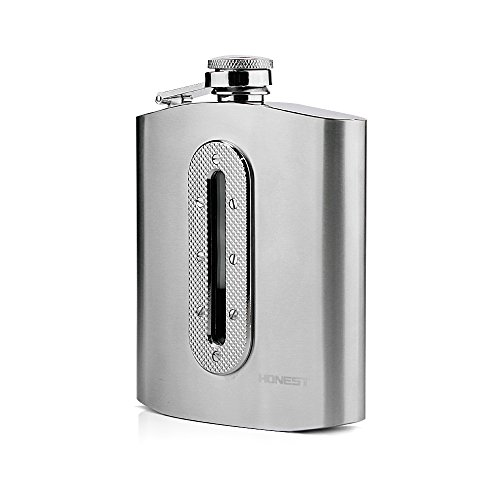 Stainless Steel Hip Flask,Ezeso Outdoor Portable 7oz Flagon For Tourism,Camping.