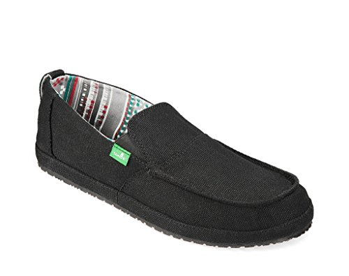 Men's  Hemp Slip-On Black 7 M