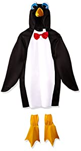 Rasta Imposta Lightweight Penguin Costume, Black/White, One Size