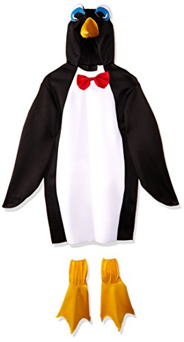 Rasta Imposta Lightweight Penguin Costume, Black/White, One Size - Animal Costumes
